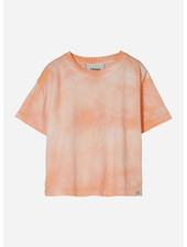Finger in the nose queen tie & dye short sleeves tshirt - peach