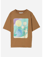 Finger in the nose king palm short sleeves tshirt - caramel