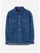Finger in the nose new dusk long sleeve shirt - blue denim