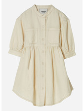 Finger in the nose swing short sleeve shirt dress - raw ecru