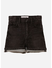 Finger in the nose cherryl high waist 5 pockets shorts - snow black
