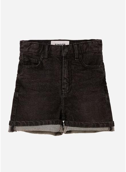 Finger in the nose cherryl high waist 5 pockets shorts - snow black