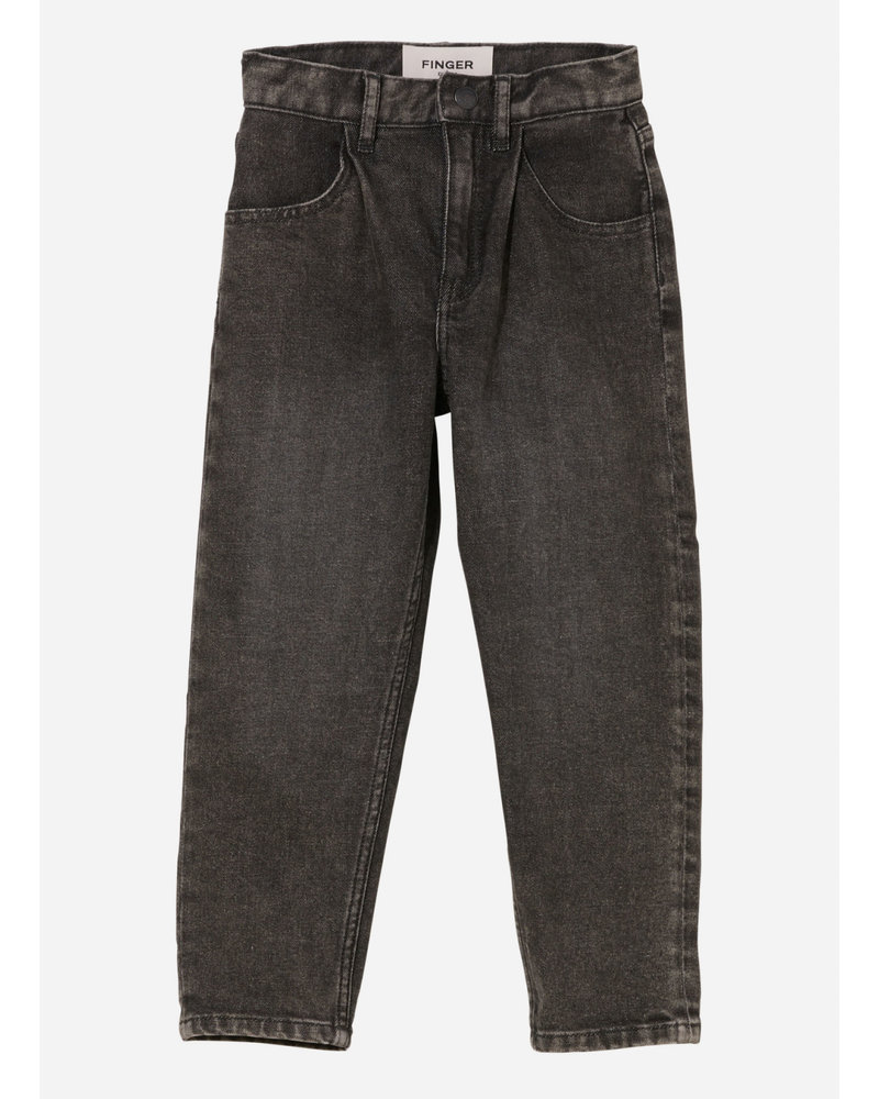 Finger in the nose solange slouchy it jeans - black snow