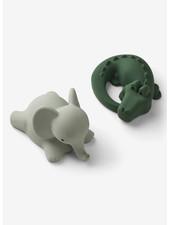 Liewood vikky bath toys 2-pack safari green  mix