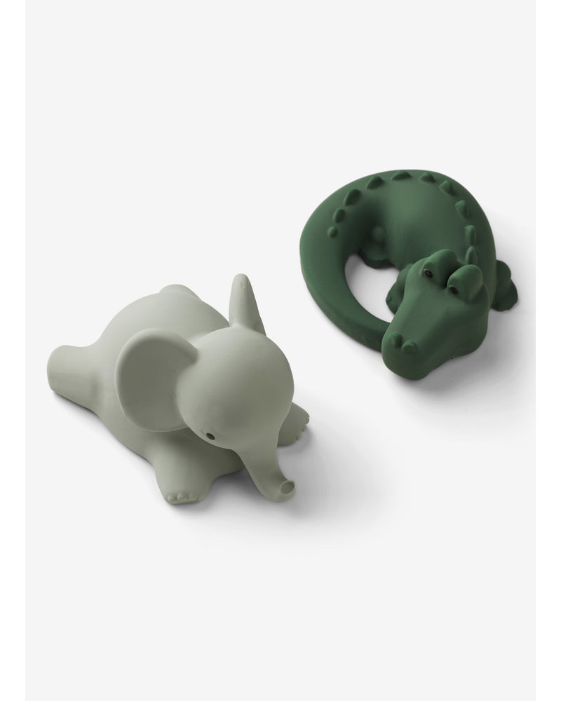 Liewood vikky bath toys 2-pack safari green  mix