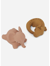 Liewood vikky bath toys 2-pack safari dark rose mix