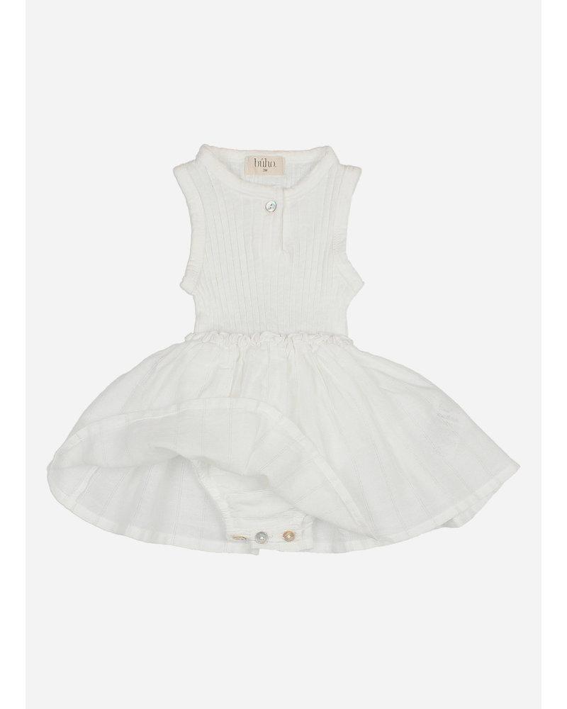 Buho suzette dress culotte - white