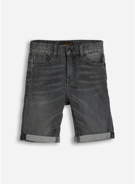 Finger in the nose edmond 5 pockets comfort fit shorts - grey denim