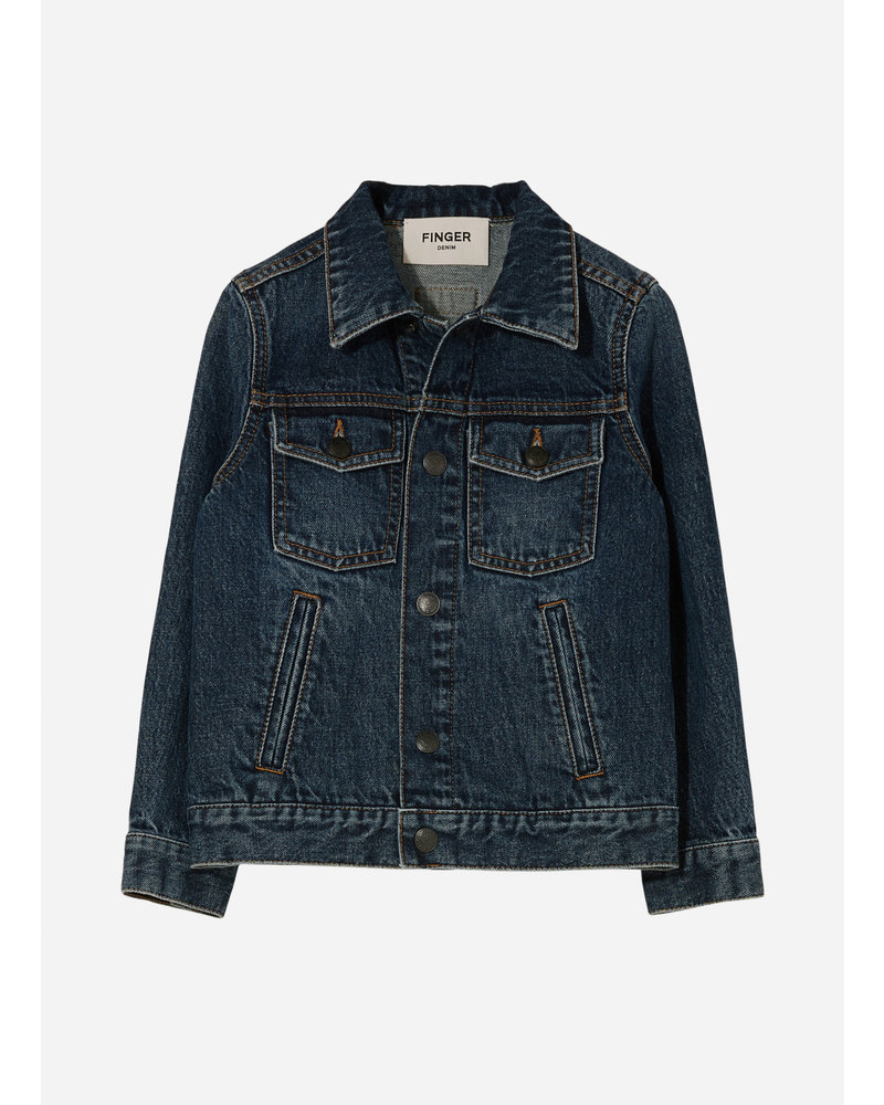 Finger in the nose nick denim jacket - medium blue