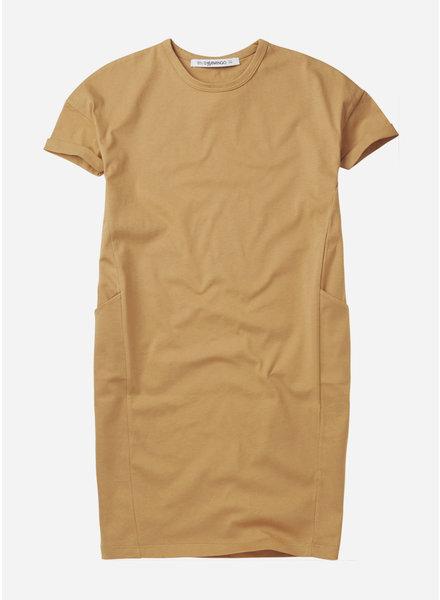 Mingo tshirt dress - light ochre