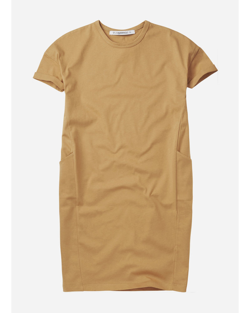Mingo tshirt dress - light ochre