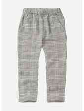 Mingo tapered trousers - block pattern white blue
