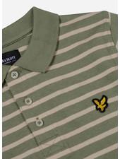 Lyle & Scott breton stripe polo oil green