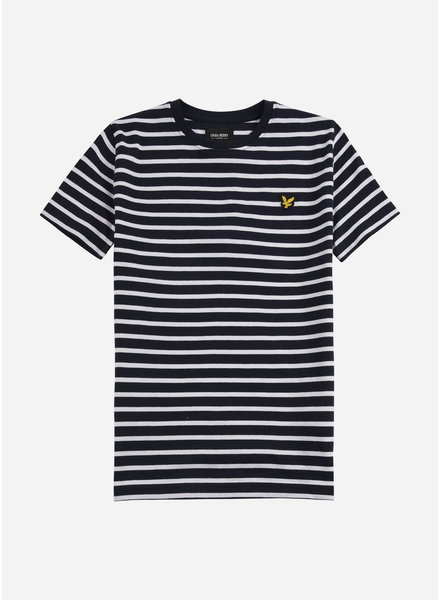 Lyle & Scott breton t-shirt navy blazer