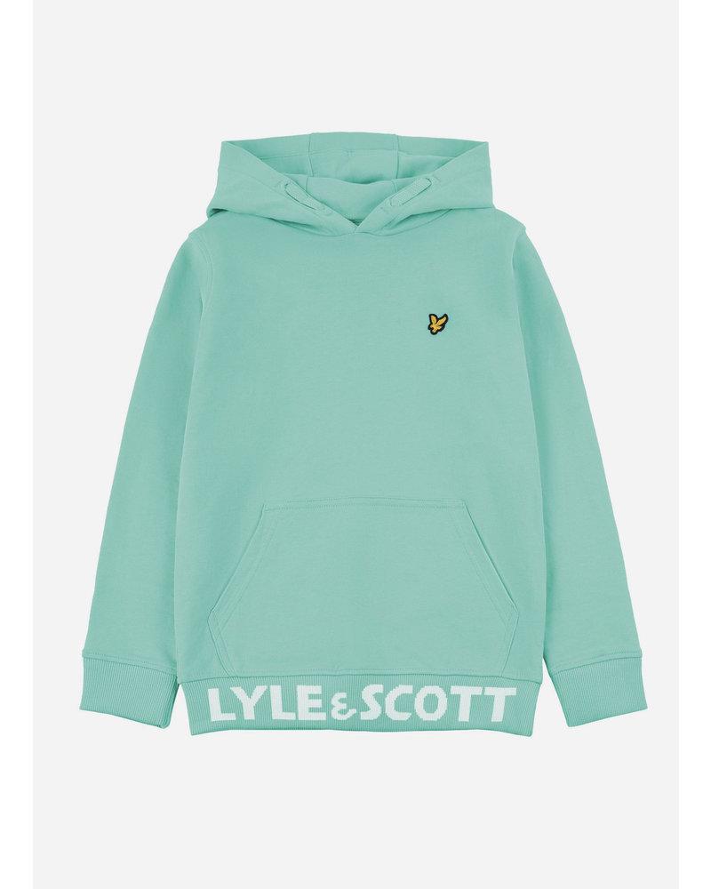 Lyle & Scott bottom branded lb oth hoody neptune green