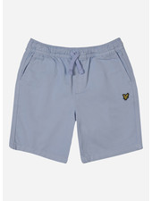 Lyle & Scott elasticated waistband short chambray blue