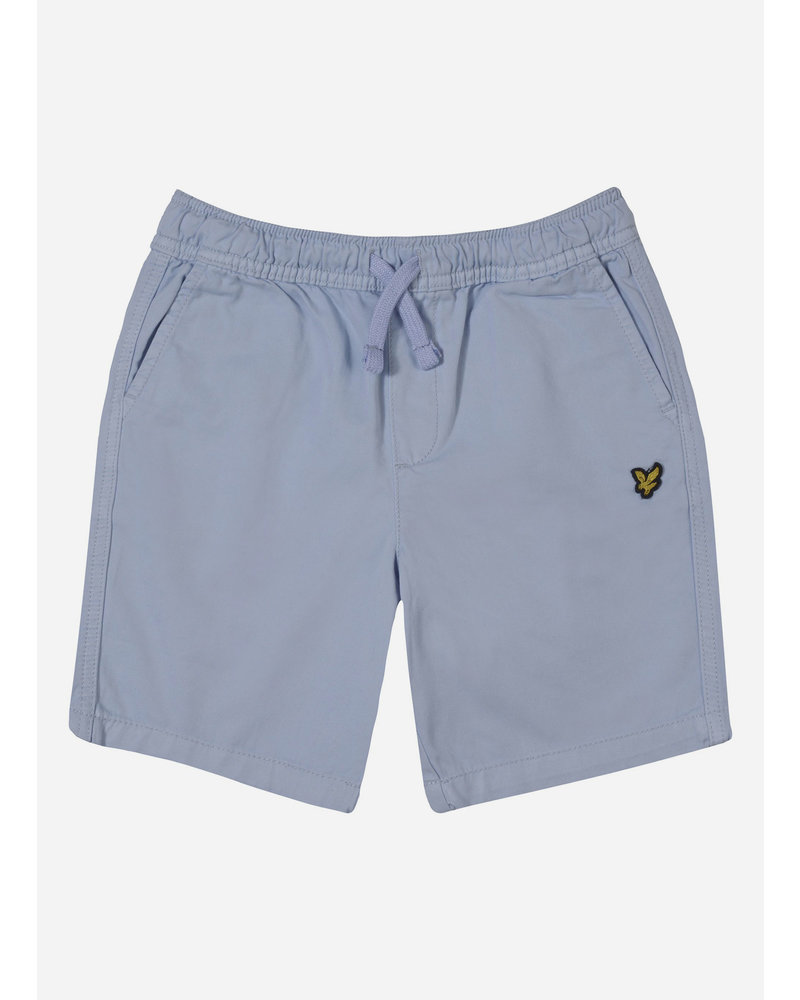 Lyle & Scott elasticated waistband short chambray blue