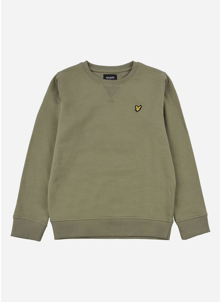 Lyle & Scott classic crew neck lb oil green