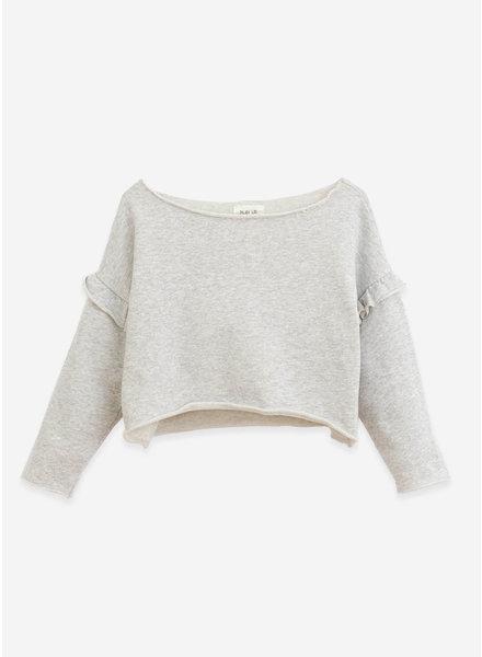 Play Up fleece sweater- grey melange - 4AI10902 - M049