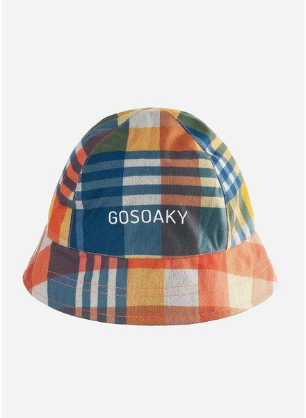 Gosoaky foxy fox hat - lemon yellow check