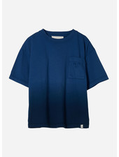 Finger in the nose king  dip dye short sleeves tshirt - work blue