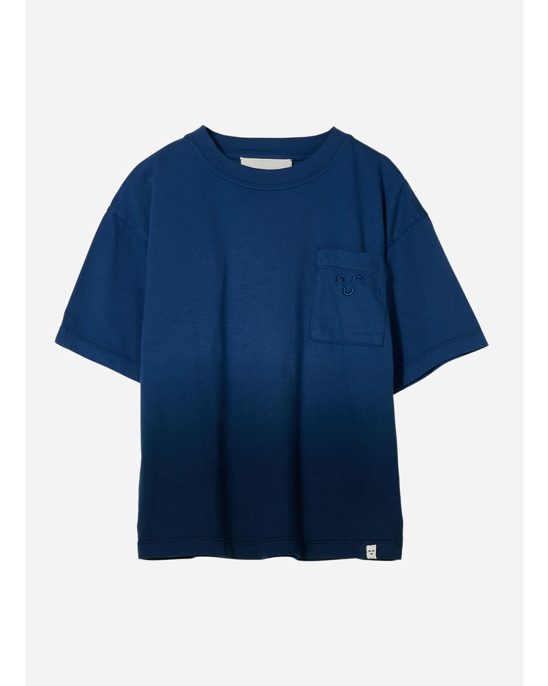 Finger in the nose king  dip dye short sleeves tshirt - work blue
