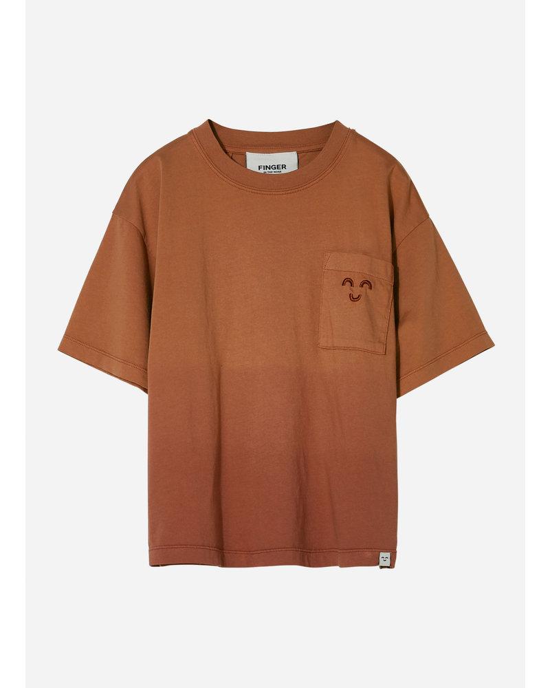 Finger in the nose king  dip dye short sleeves tshirt - dark plum