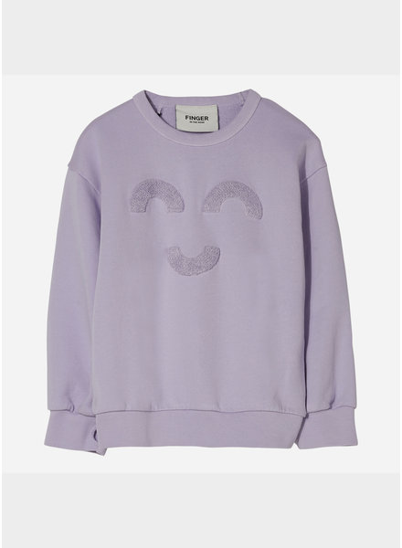Finger in the nose wind macaroni loose sweater - milky lavender
