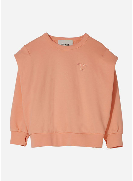 Finger in the nose carly rounded effect sweater - peach