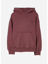 Finger in the nose horst hooded sweater - dark plum