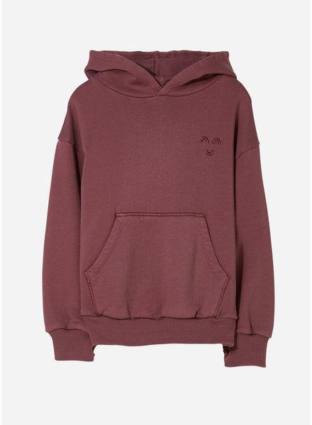 Finger in the nose horst hooded sweater - dark plum