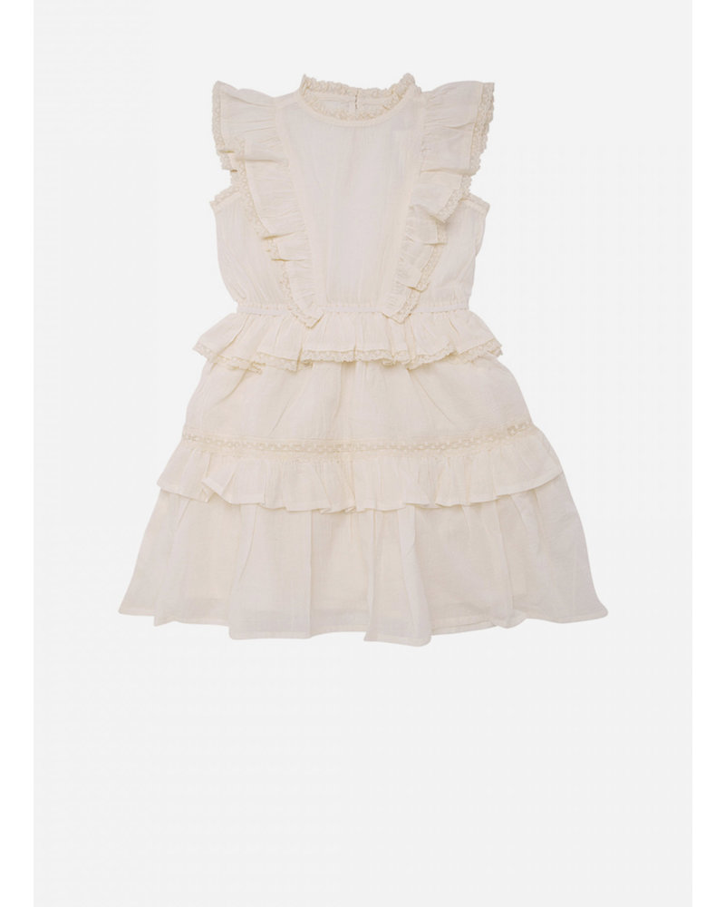 The New Society antonia dress off white