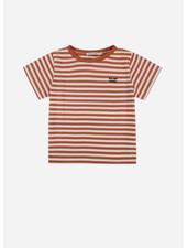 The New Society stripes tee caramel