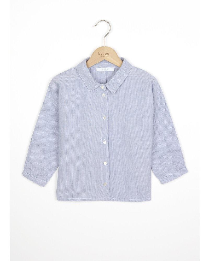 By Bar norel blouse pin stripe - indi grey