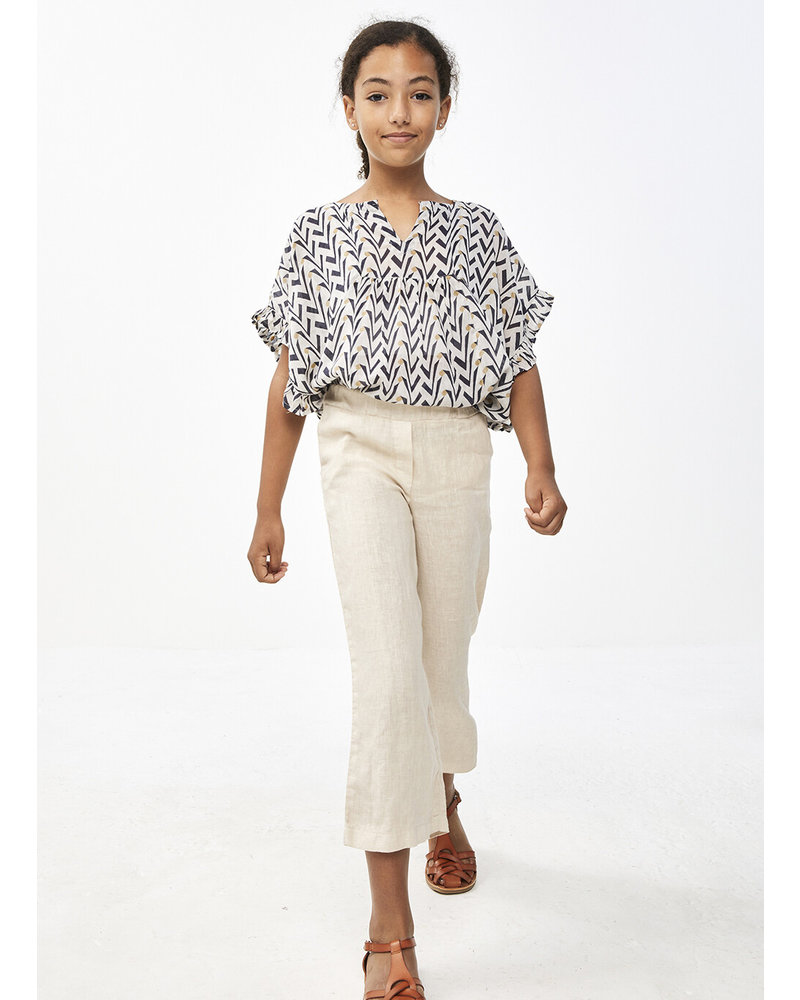 By Bar ruffle blouse coconut - egg shell