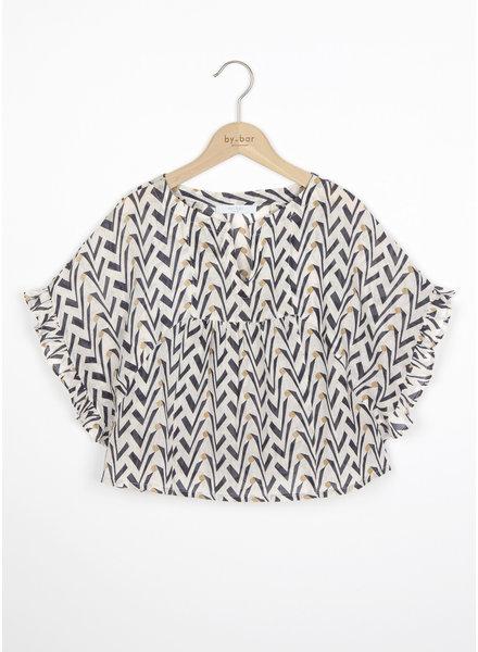 By Bar ruffle blouse coconut - egg shell