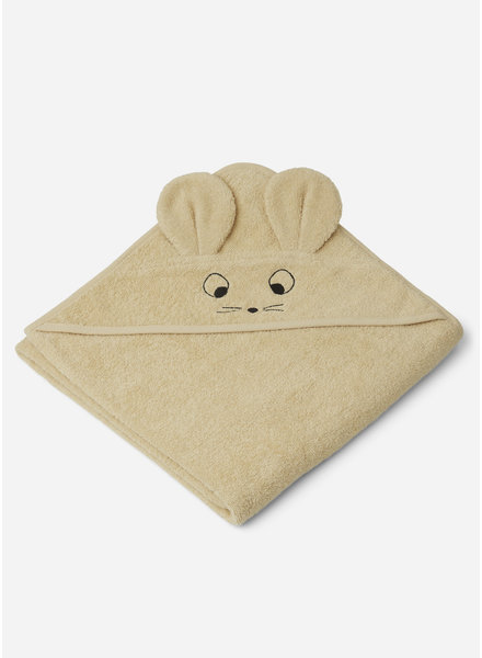 Liewood augusta hooded towel mouse wheat yellow