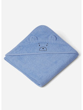 Liewood augusta hooded towel mr bear sky blue
