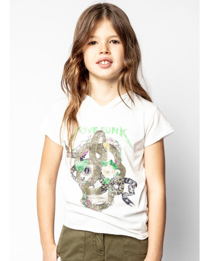 Zadig & Voltaire t-shirt korte mouwen gebroken wit