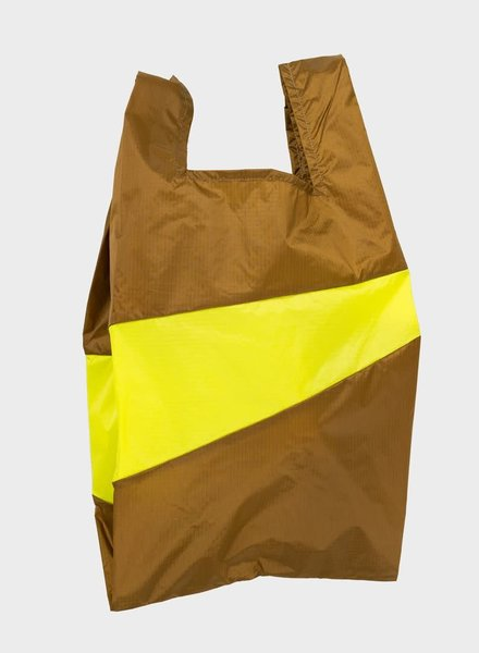 Susan Bijl shopping bag make & fluo yellow