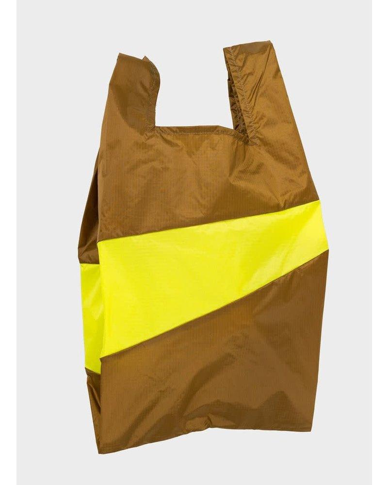 Susan Bijl shopping bag make & fluo yellow