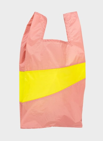 Susan Bijl shopping bag try & fluo yellow