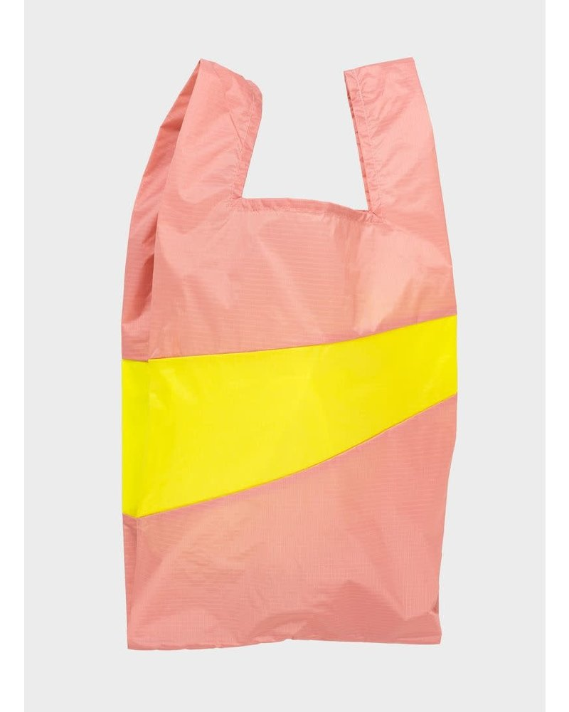 Susan Bijl shopping bag try & fluo yellow
