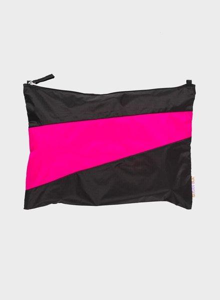 Susan Bijl pouch black & pretty pink