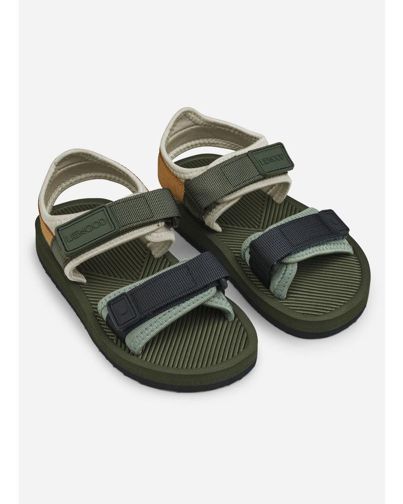 Liewood monty sandals hunter green mix