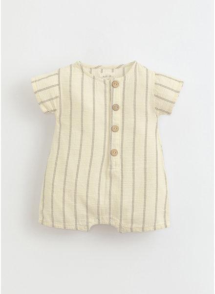 Play Up striped woven jumpsuit -  dandelion - 1AI11503 - P0058