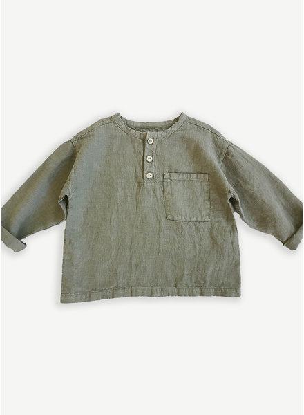 Play Up linen shirt - cocoon - 3AI11250 - P7155