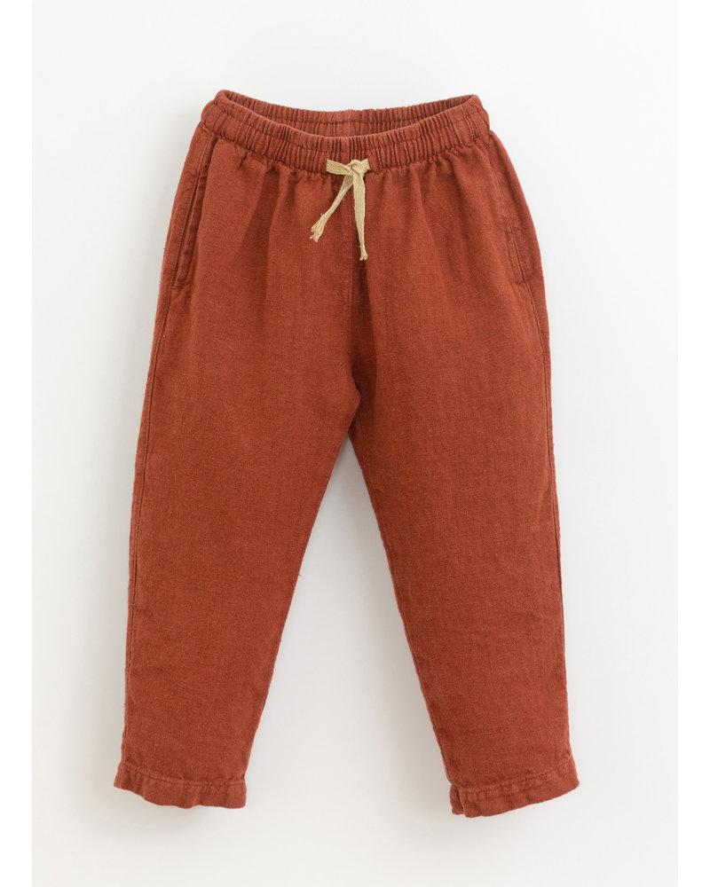 Play Up linen trousers - farm - 3AI11601 - P4117