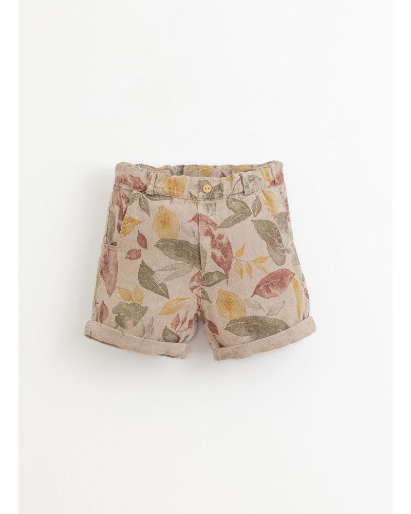 Play Up printed linen shorts - bicho - 3AI11707 - E375B