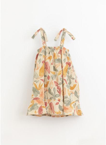 Play Up printed woven dress - mushroom - 4AI11456 - E368N